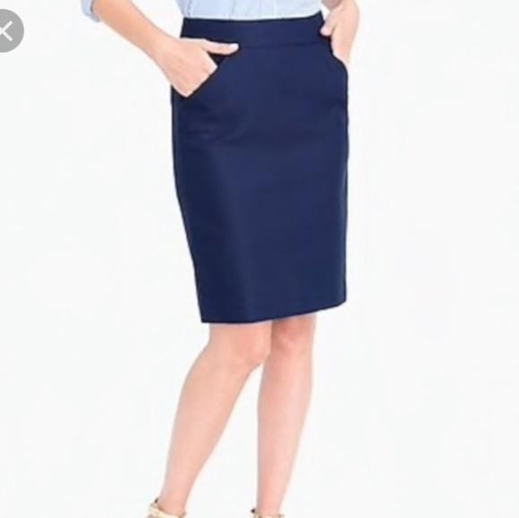 J. Crew Dresses & Skirts - Like New J Crew Navy Pencil Skirt